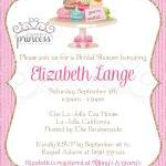 Bridal Shower Invitation - Macarons..