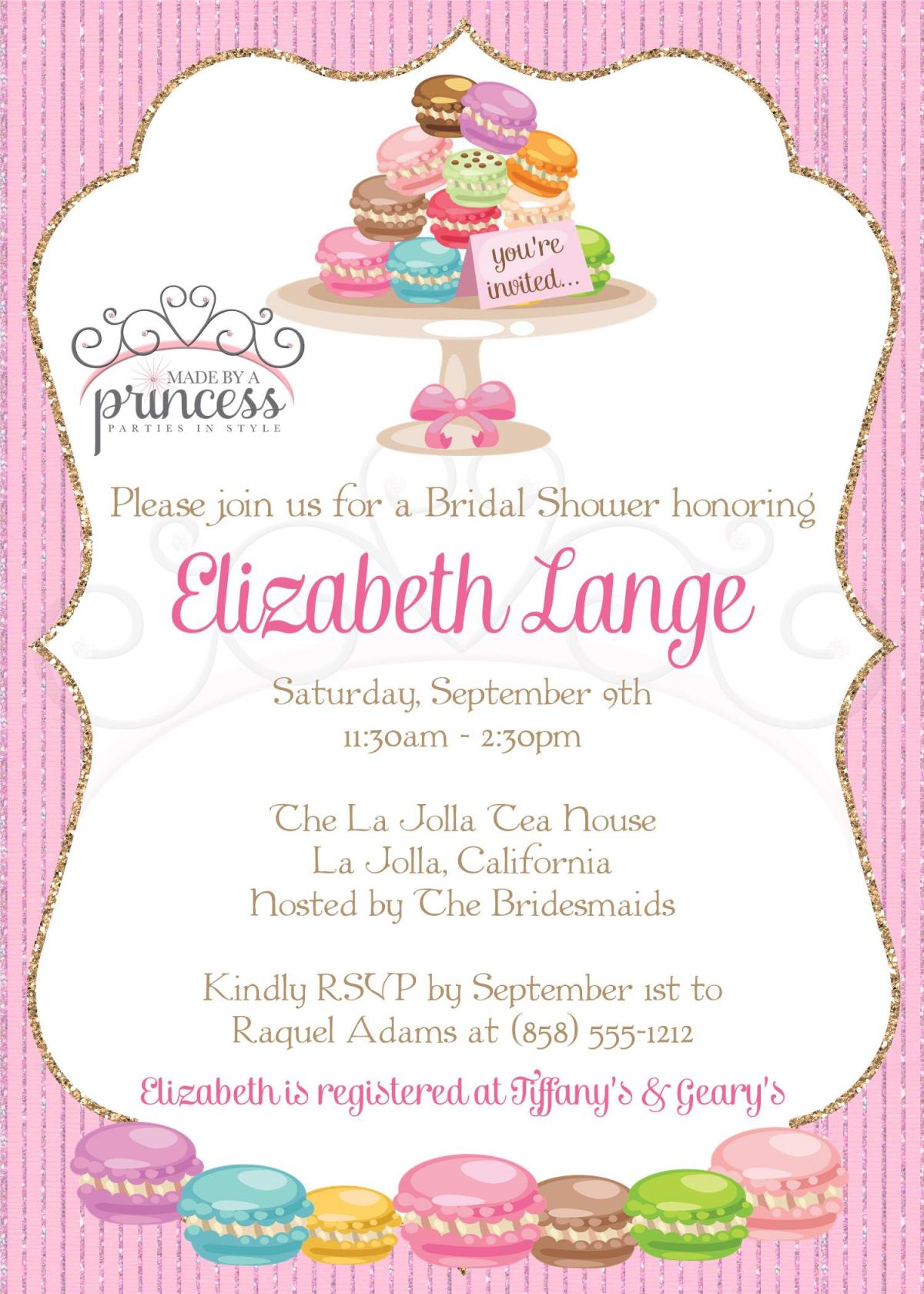 Bridal Shower Invitation - Macarons Macaroons - Printable DIY - Baby Shower Invitation